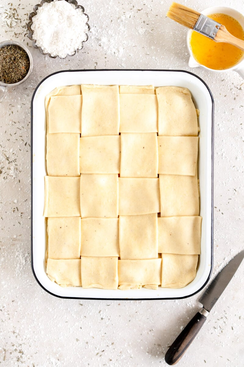 lattice topped chicken pot pie