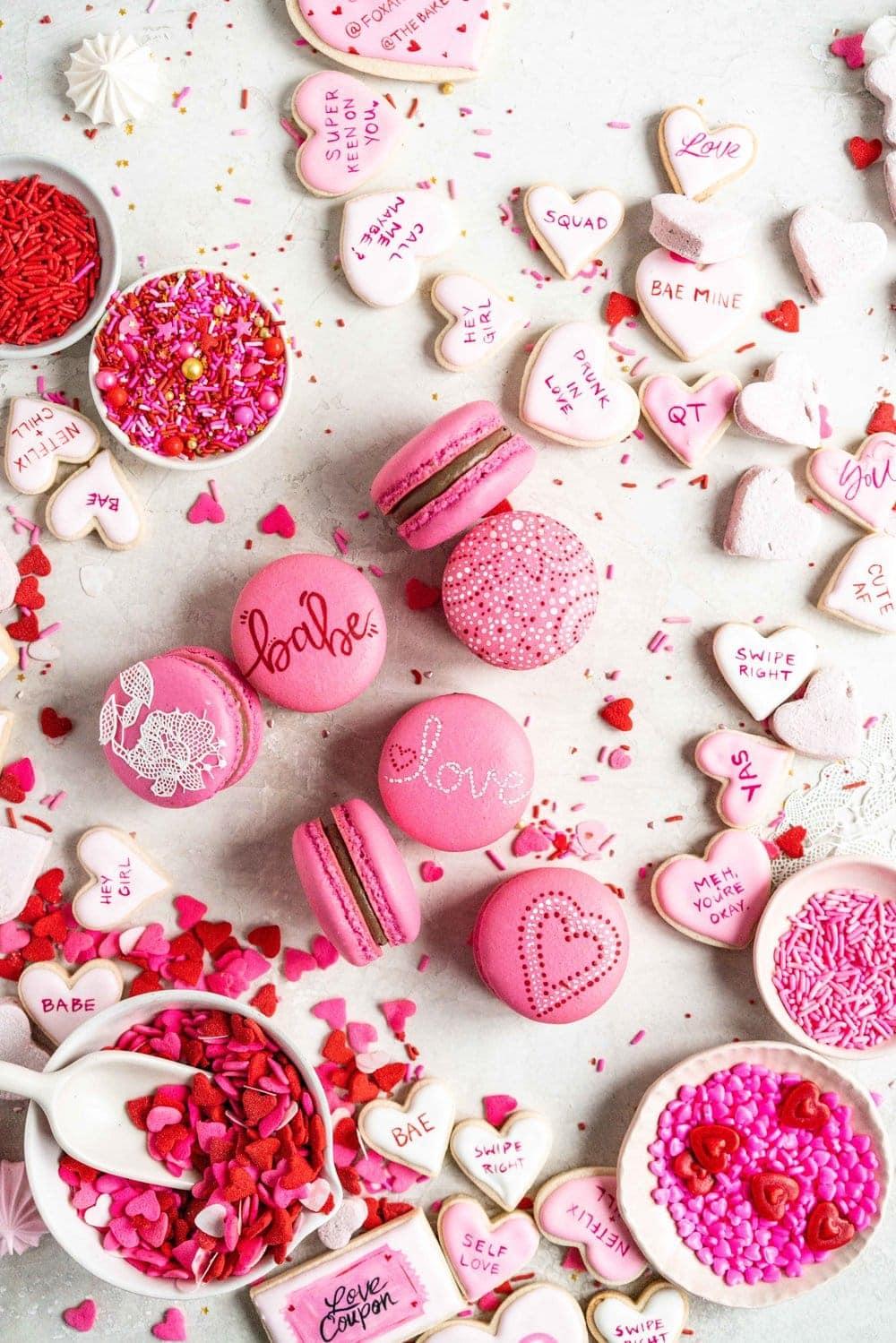 Valentines' day macarons
