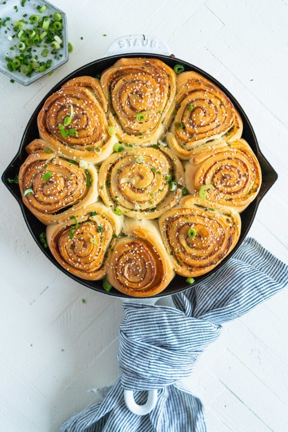 baked cheese, scallion and chive buns