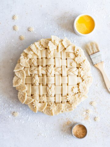 Apple Pie with Lattice Topping