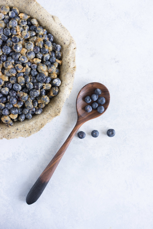 Earl grey blueberry pie