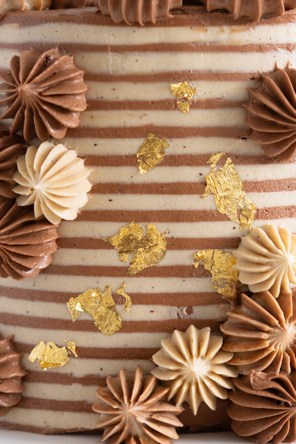 Chocolate Brownie Cake with Chocolate Hazelnut filling and Mocha German Buttercream - perfectly indulgent.