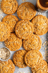 anzac biscuits on sheet pan