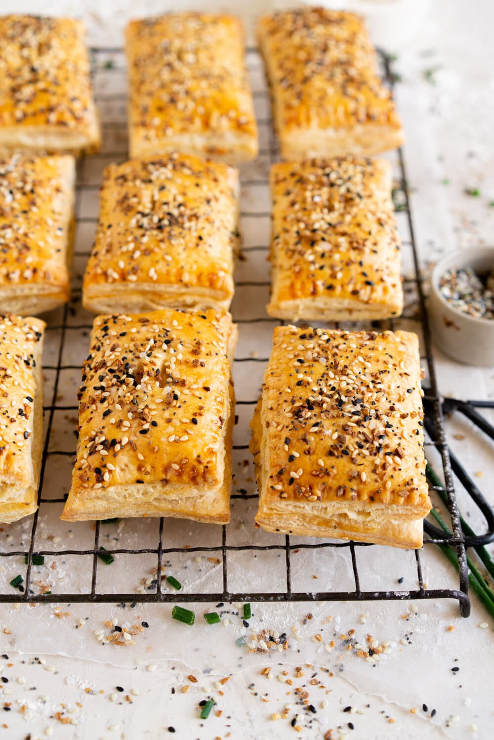 Smoked Salmon and Cream Cheese Hand Pies with Everything Bagel Seasoning. Easy flaky pie dough is filled with a smoked salmon and cream cheese mixture, and baked until perfectly golden and flaky.