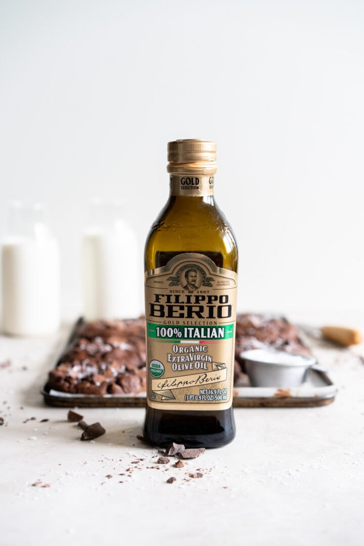 Bottle of Filippo Berio Extra Virgin Olive Oil