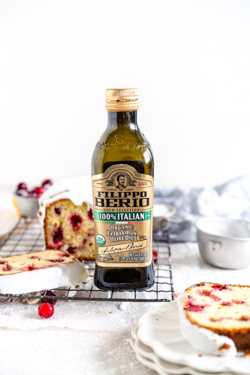 Bottle of Filippo berio Italian Olive Oil