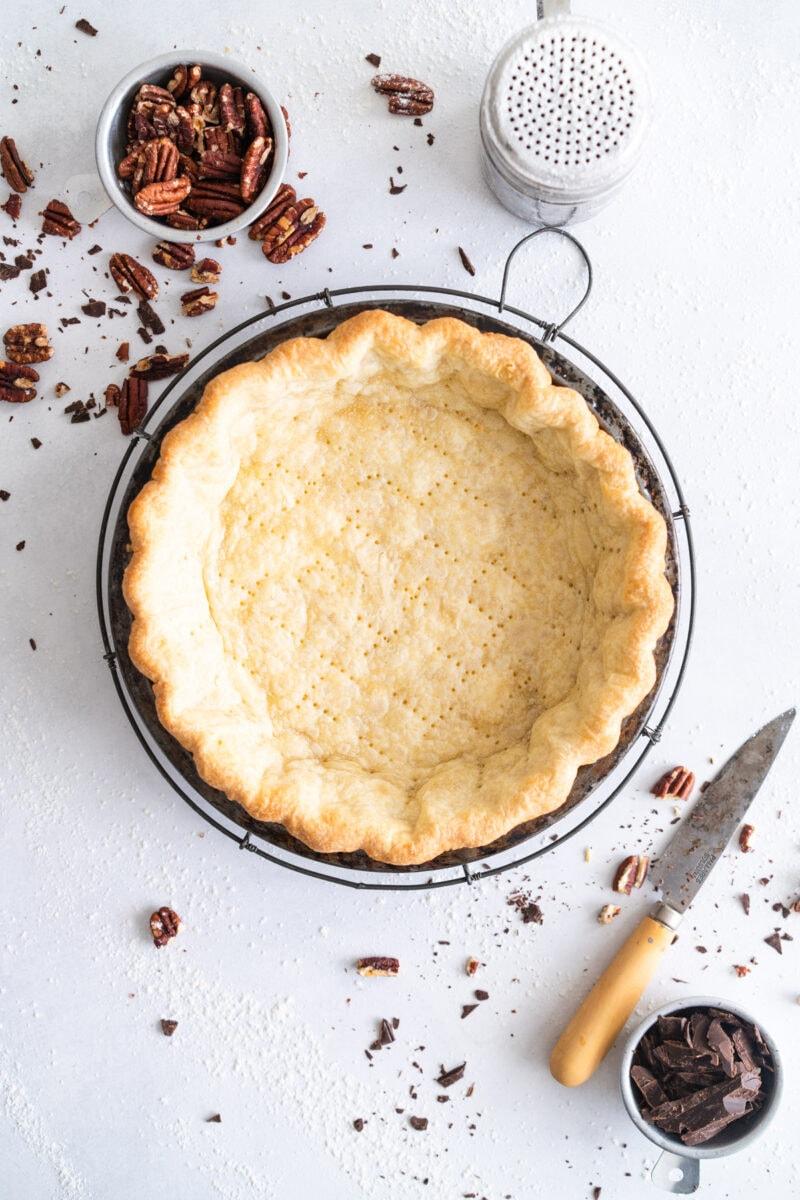 Par-baked Pie Crust