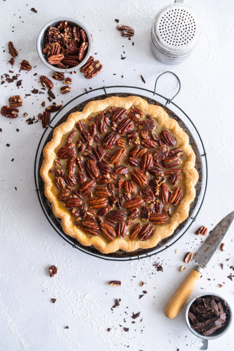 Pecan Pie ready for Oven