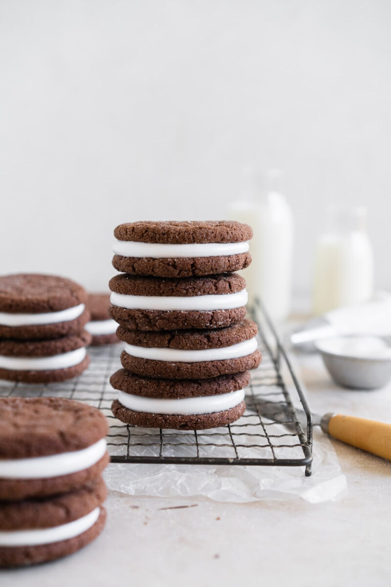 Stacked Chocolate Sandwich Cookies