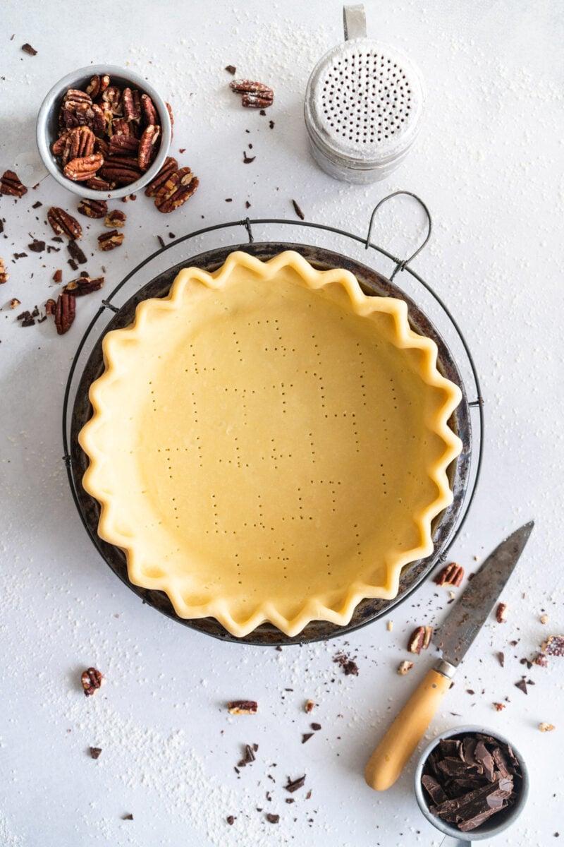 Pie crust ready for par-baking