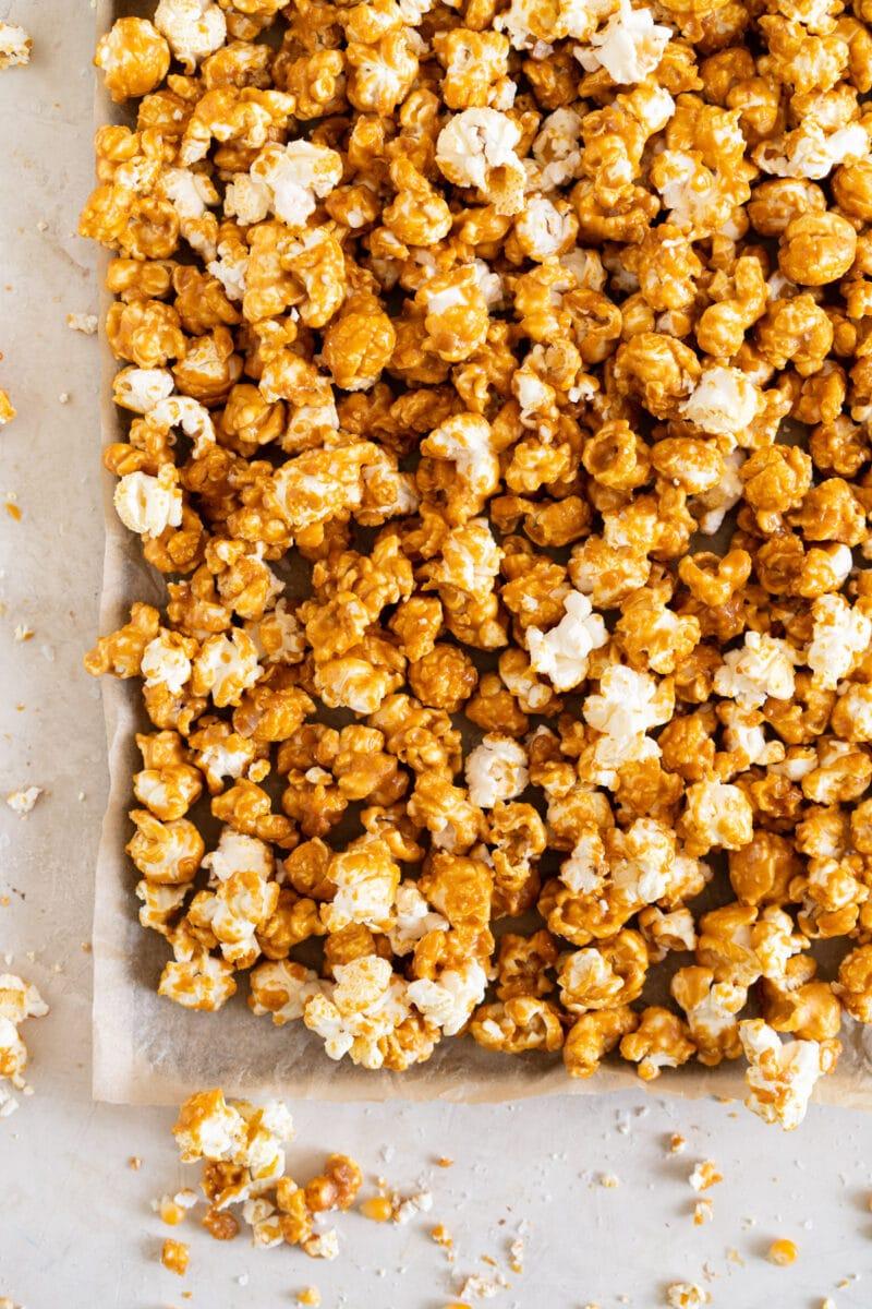 corner shot tahini caramel corn