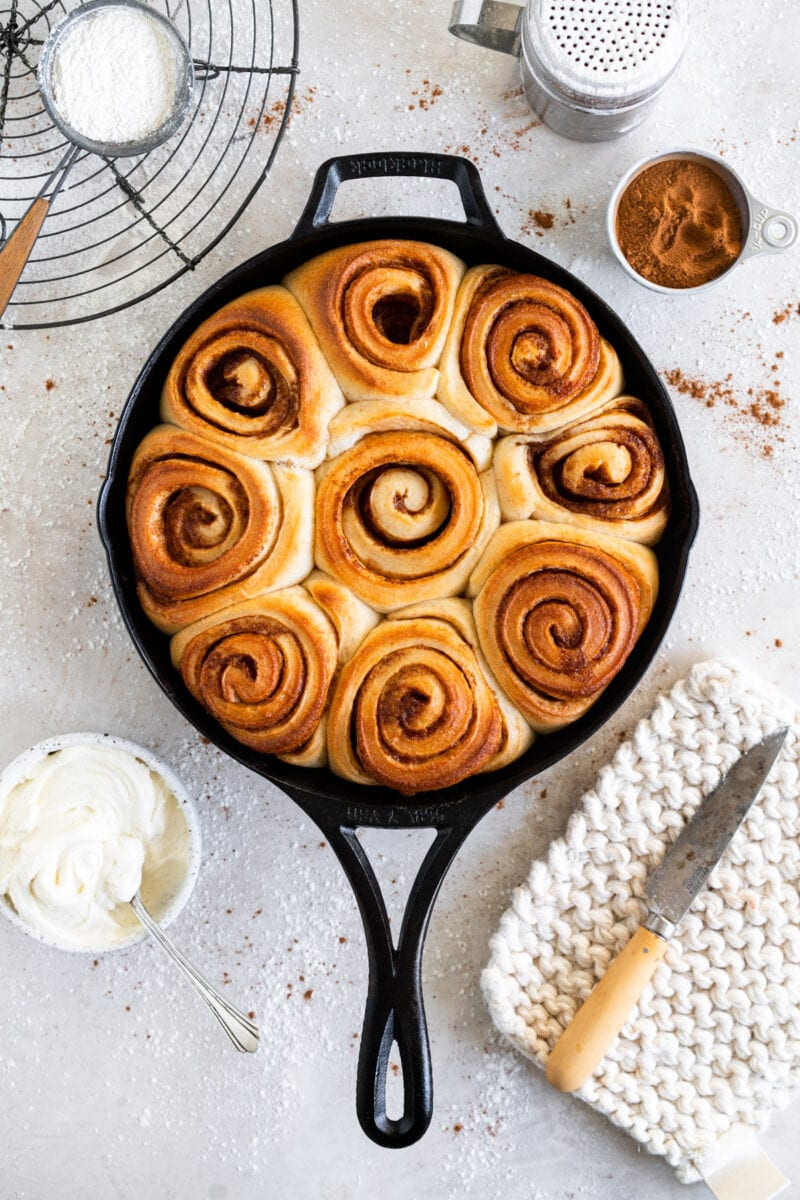 Baked Sourdough Cinnamon Rolls