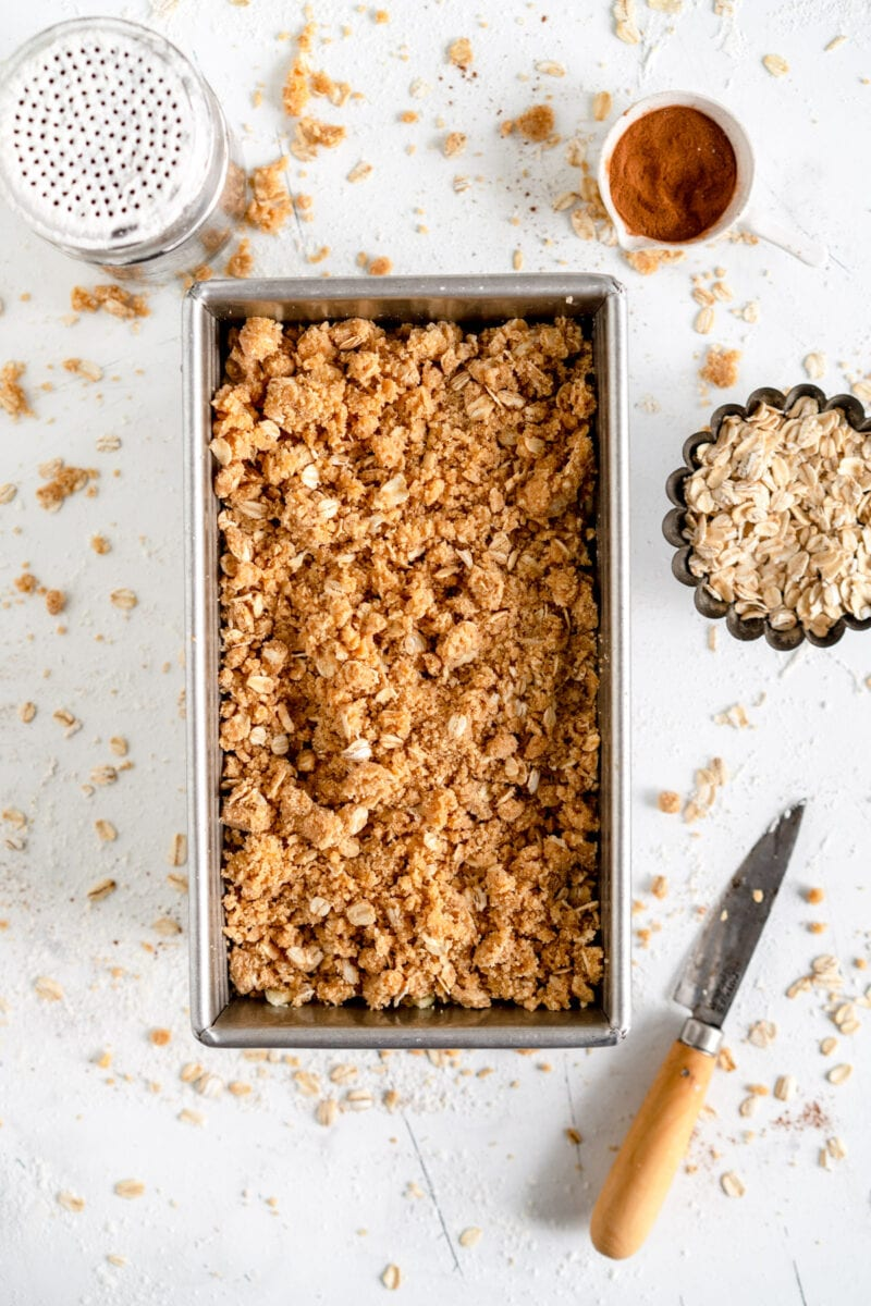 small batch apple crumble