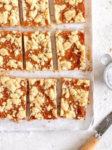 Corner Shot slices of tan square