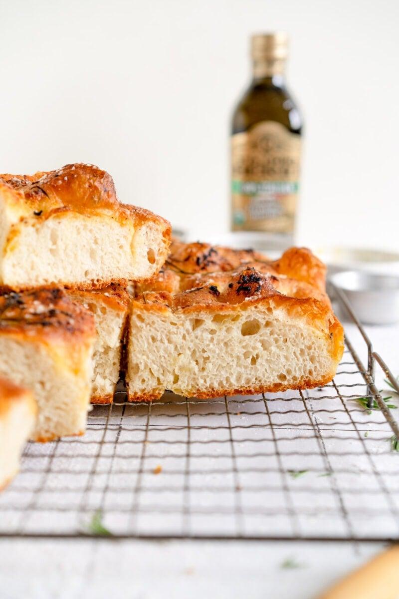 Sliced Focaccia Bread