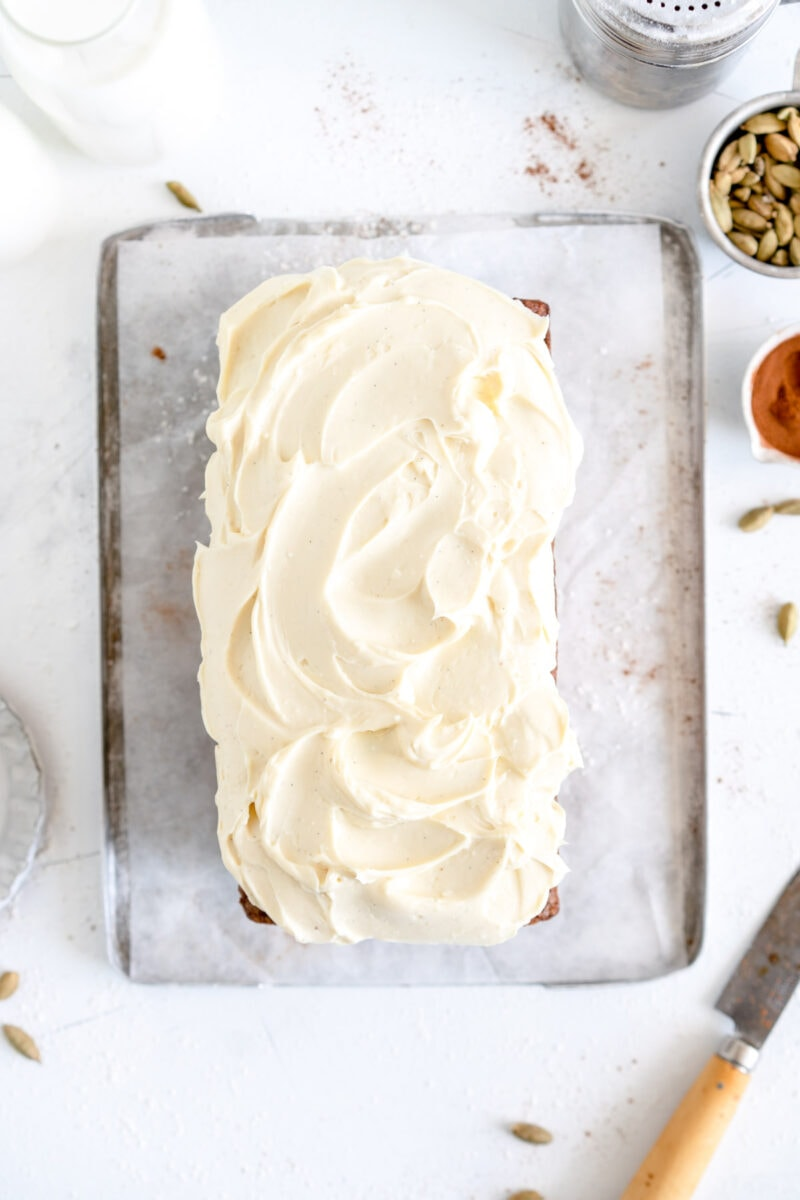 frosted carrot loaf cake
