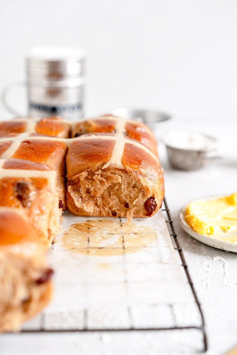 super soft hot cross buns
