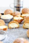 vanilla bean diplomat cream filled cream puff