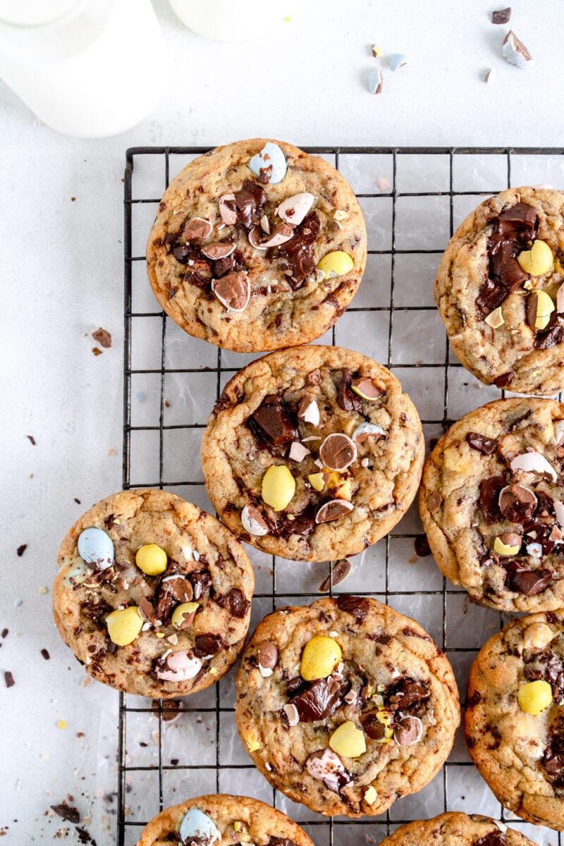 top corner shot of cookies