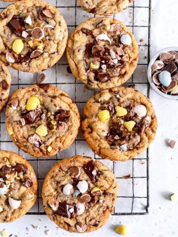 corner shot chocolate chip cookies