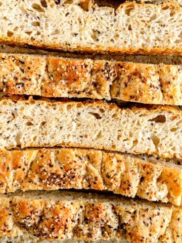 No knead everything Bagel Focaccia