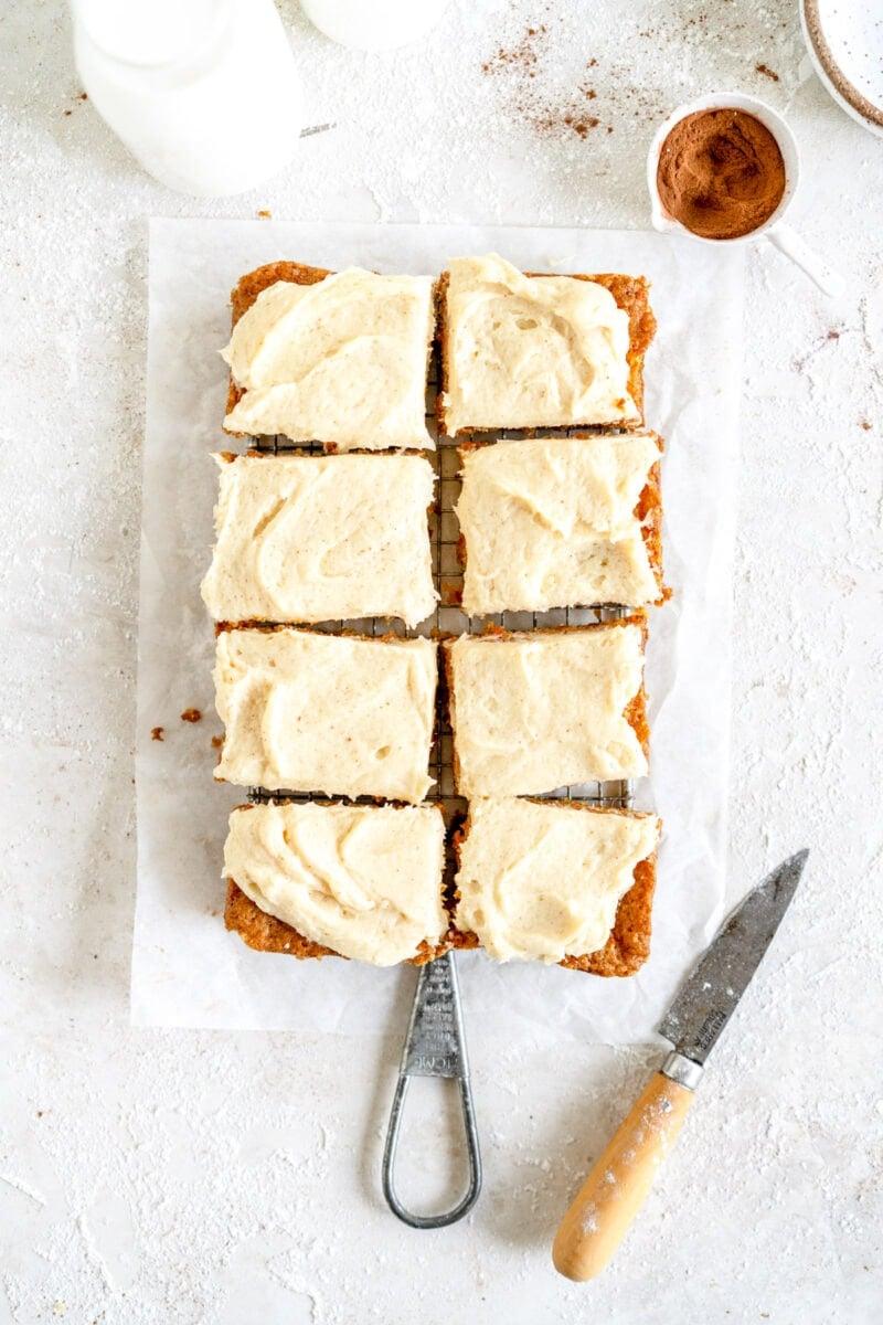 sliced mini carrot cake