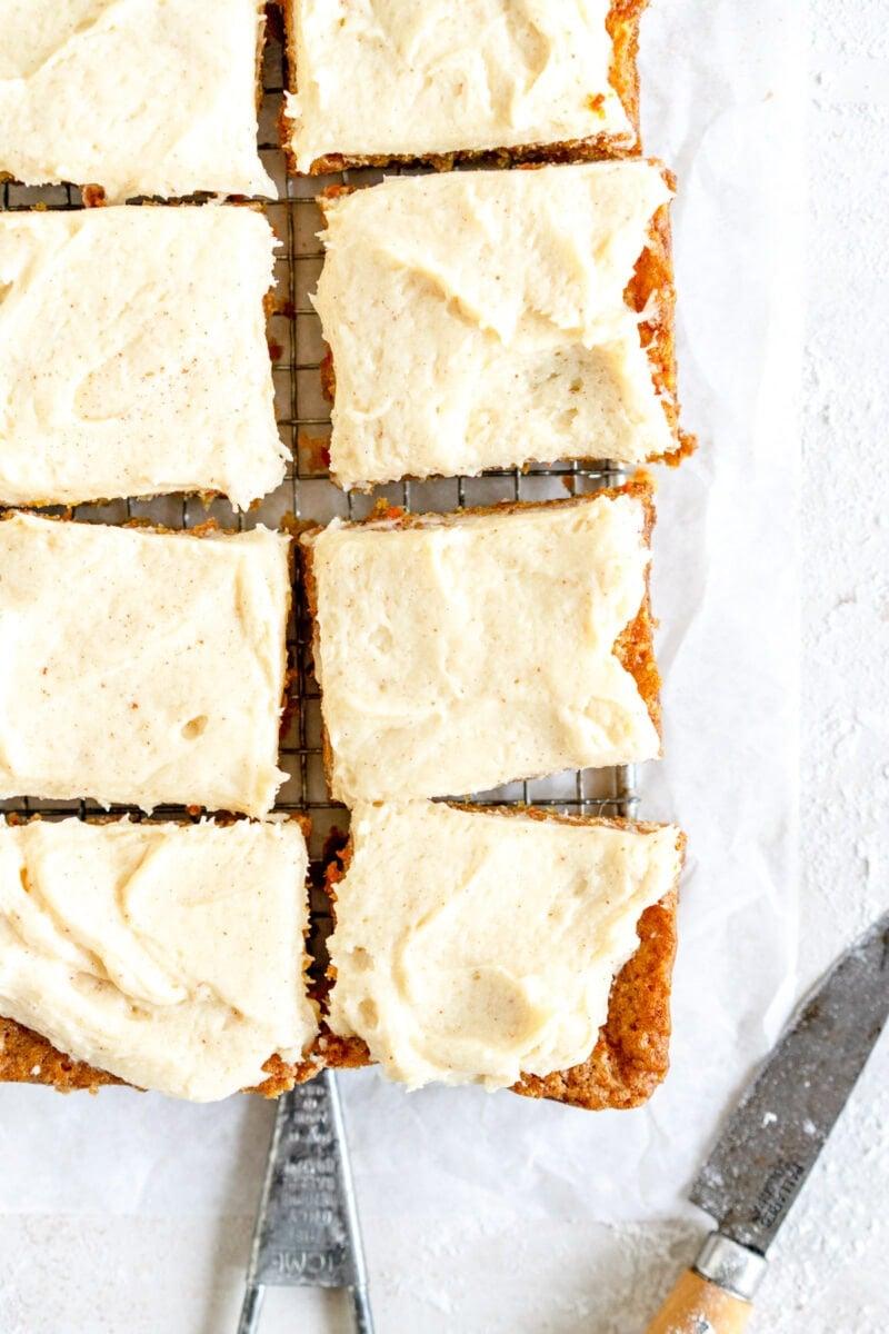 sliced brown butter carrot cake