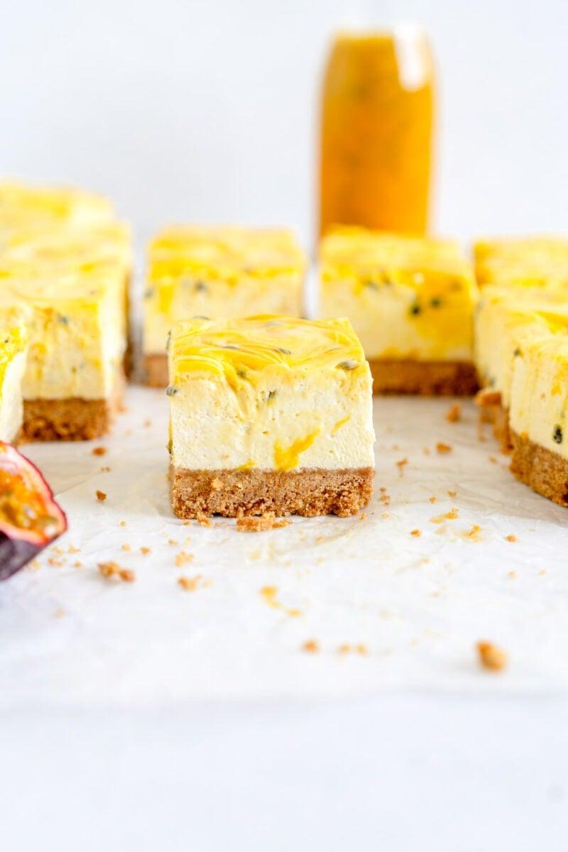 cut side shot cheesecake