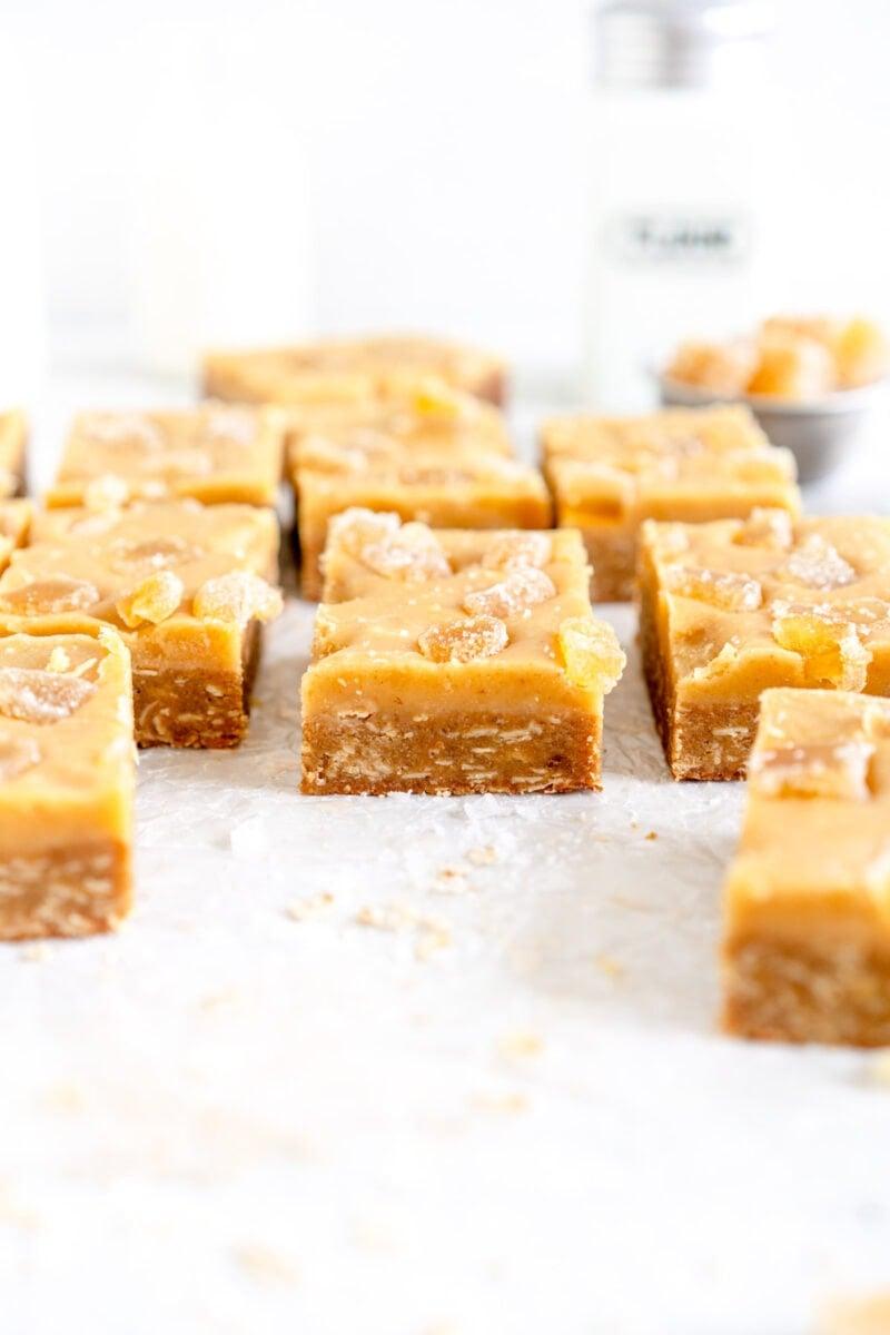 side on shot of ginger slice recipe