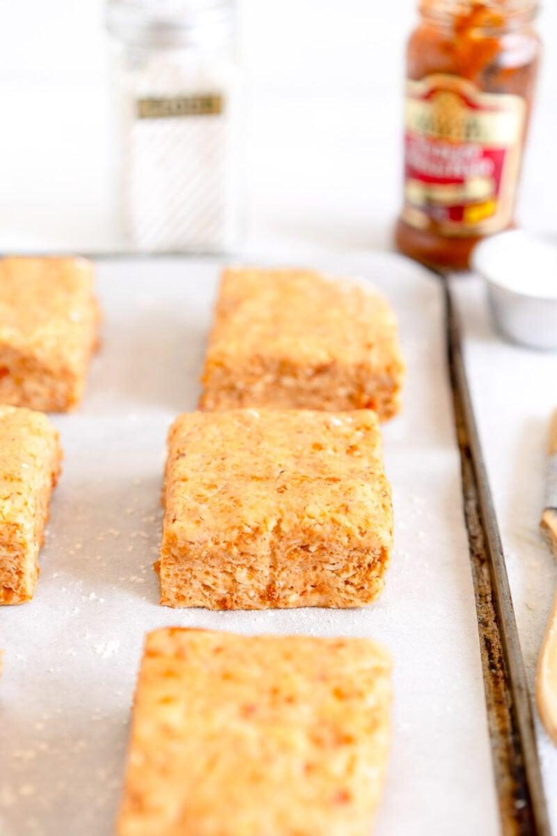 side shot savory scones