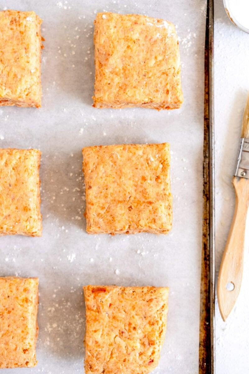 savory scones ready to bake
