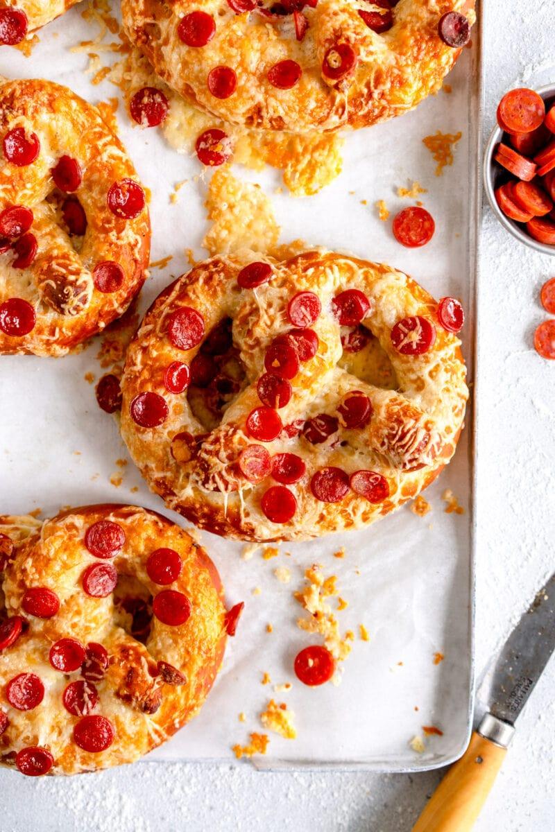 baked cheese pretzel