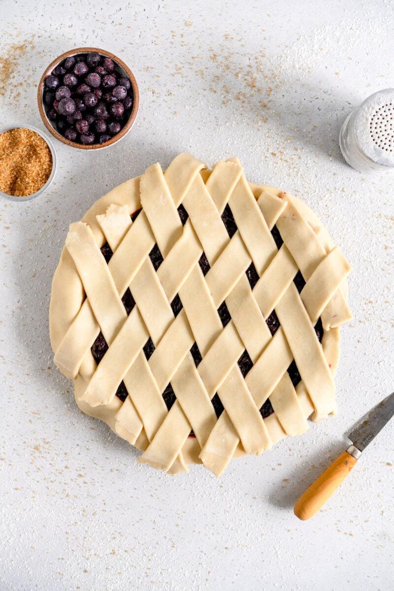 latticed crostata