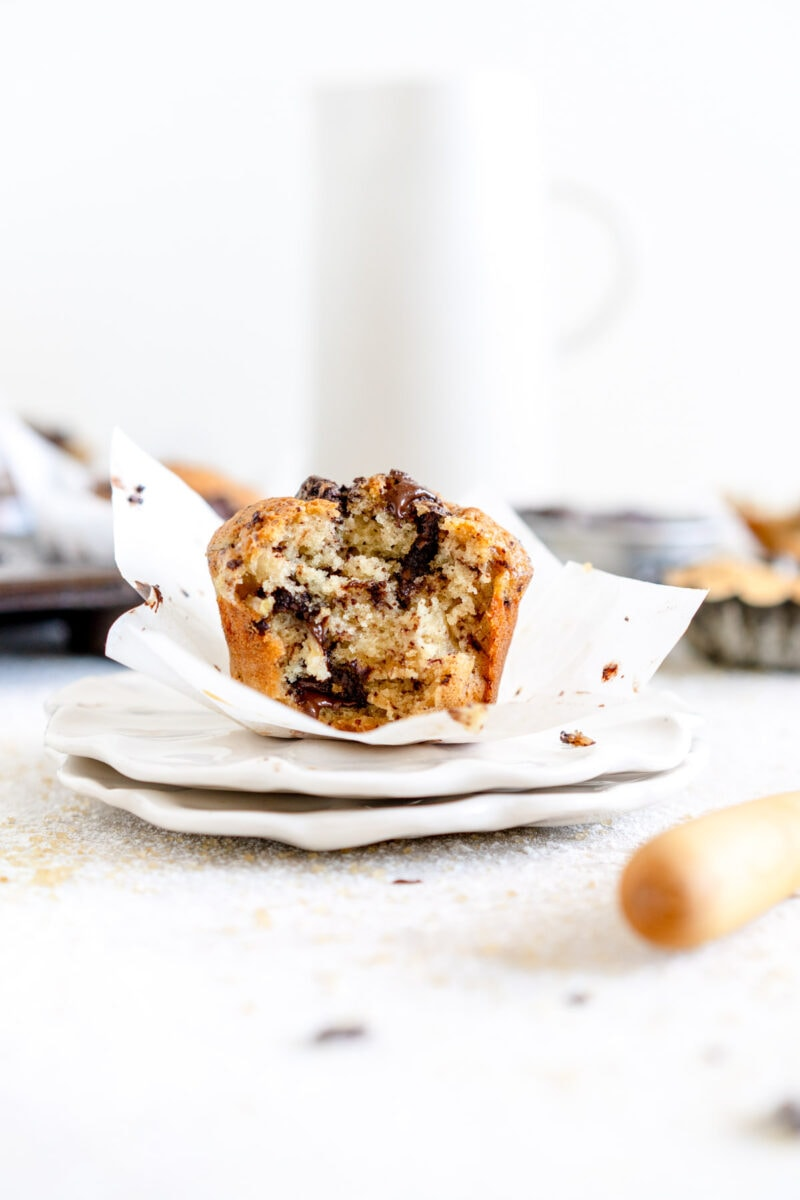 side cut shot vegan muffins