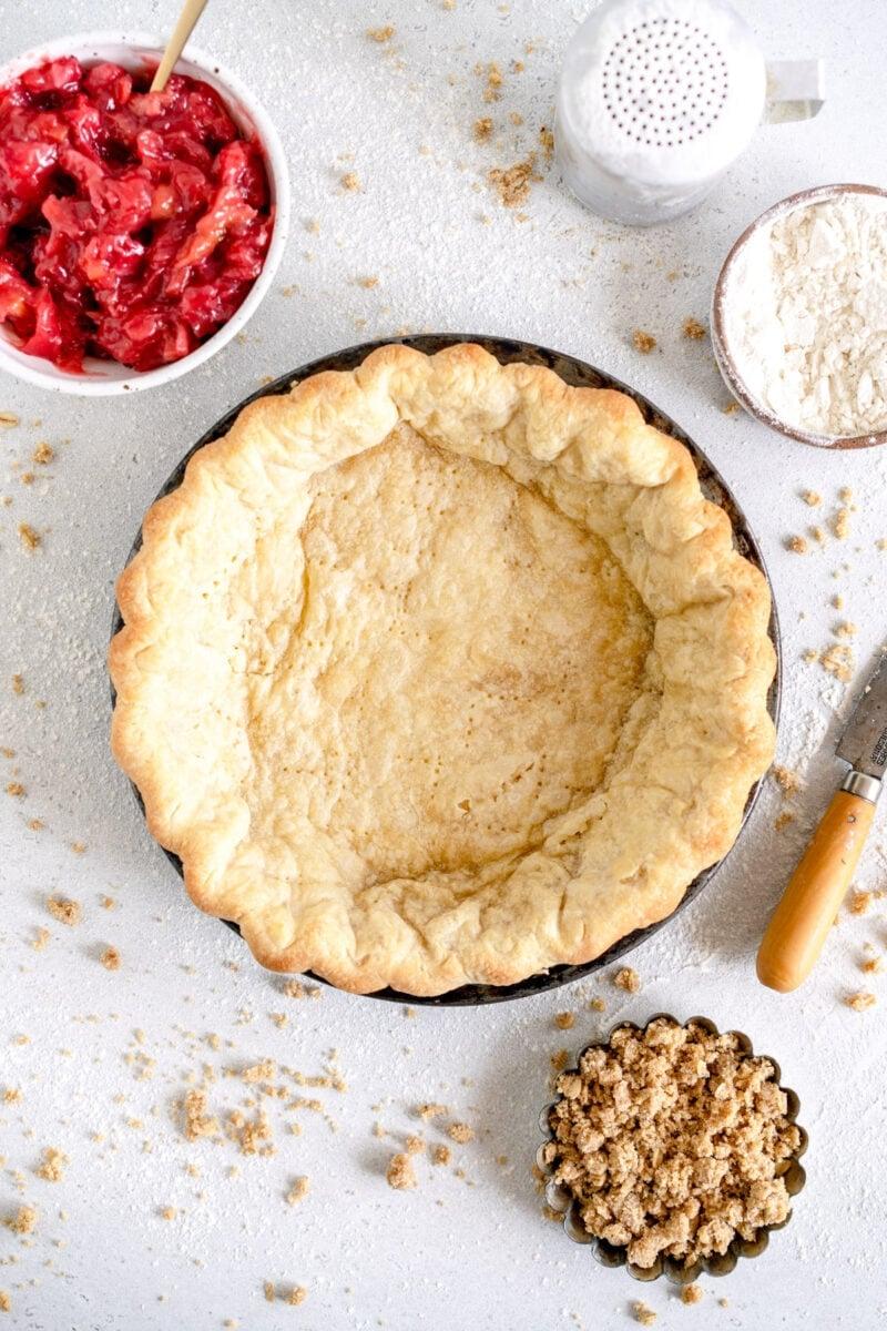 Par baked pie crust