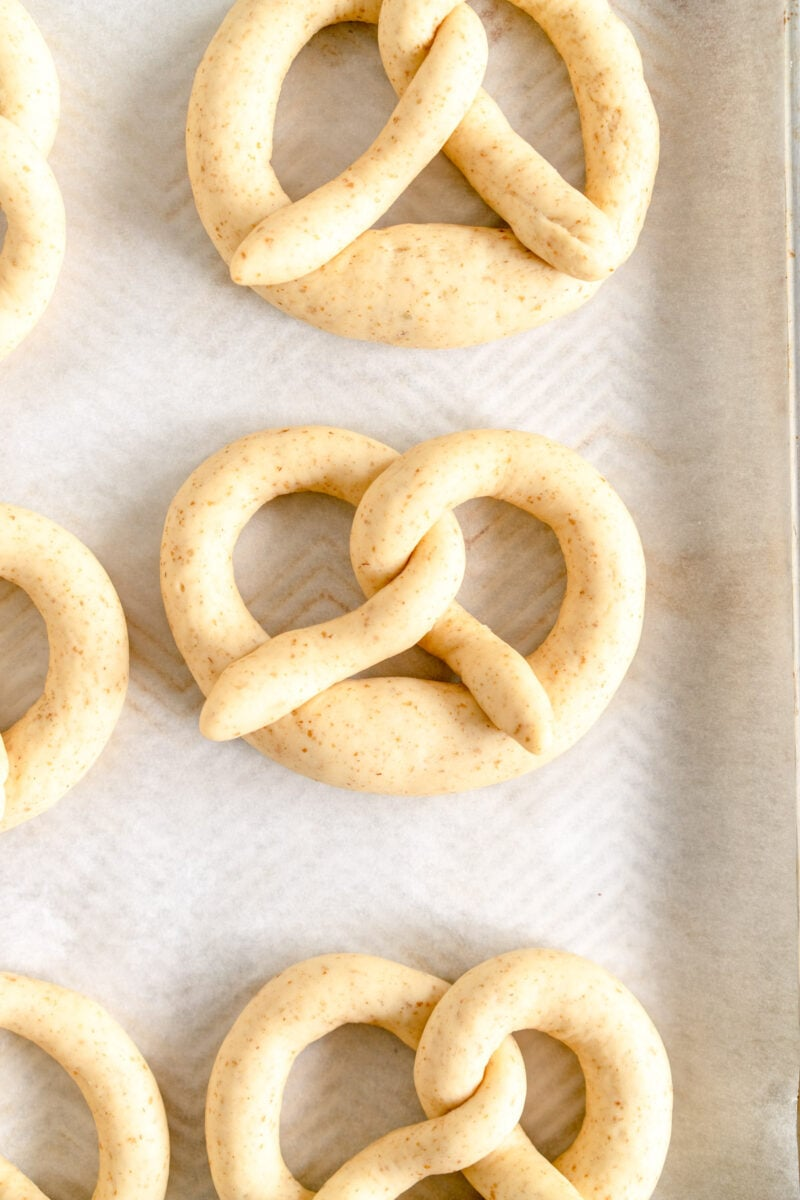 pretzels ready for oven