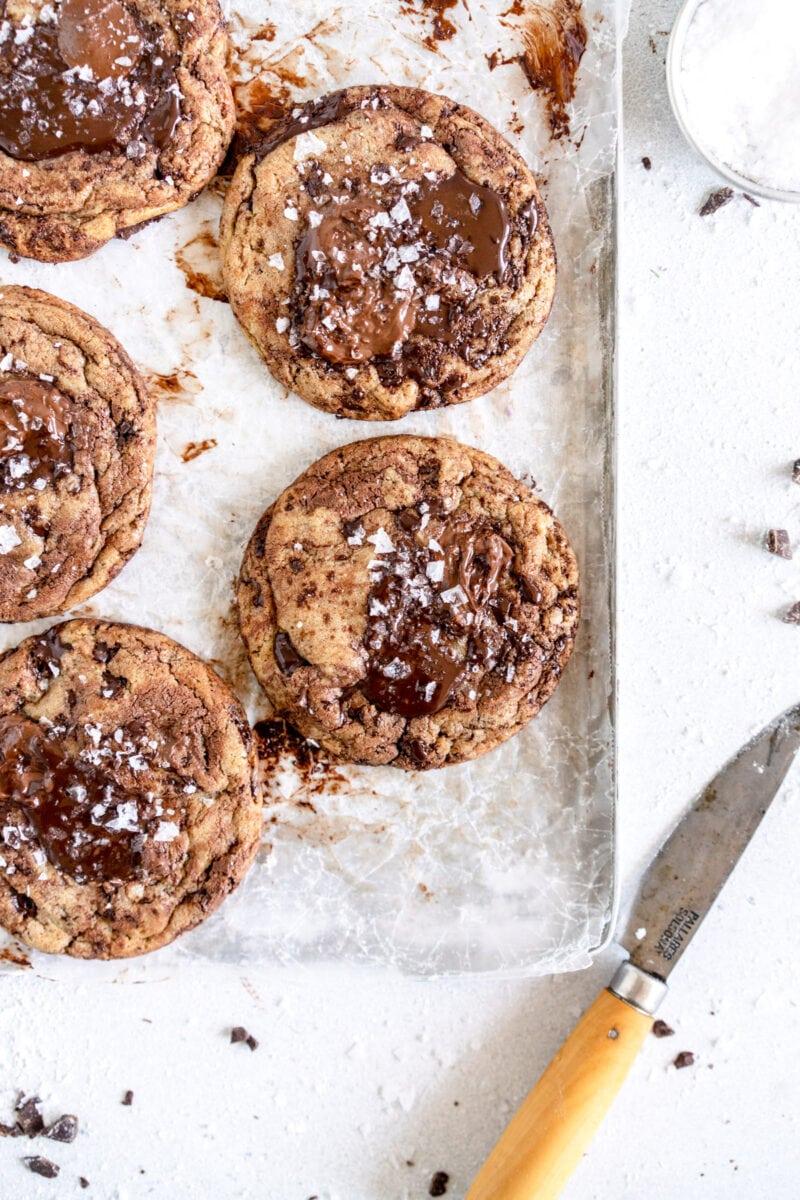 corner shot nutella chocolate chip cookies