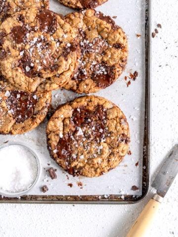 corner shot oatmeal chocolate chip cookie
